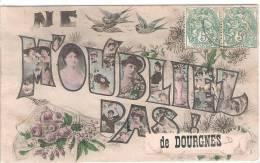 81 TARN DOURGNE Carte Souvenir  32 - Dourgne