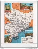 (06) Carte Du Département Des Alpes Maritime (Extrait De La Cartographie Didot-Bottin) - Frankreich