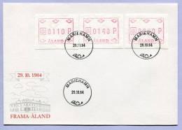 Brief FDC ATM Automatenmarken ALAND MARIEHAMN 1984 (535) - Ålandinseln