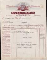 NOEL FRERES, MANUFACTURE DE CHAUSSURES A VITRE / FACTURE DATEE 1948 - France
