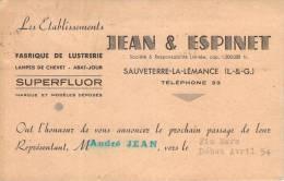 47 - Sauveterre-la-Lémance - Jean & Espinet, Avis De Passage, Fabrique De Lustrerie - France