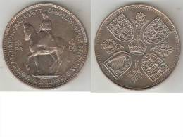 Great Britain 1 Crown    1953  Km 894  Xf+ * - 1902-1971 : Post-Victorian Coins