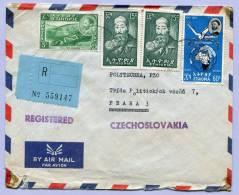 Air Mail Registered Letter To PRAHA  (186) - Äthiopien