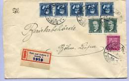 Registered Letter AUSSIG Usti Nad LABEM (189) - Tschechoslowakei/CSSR