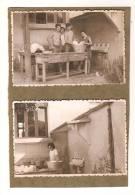 2 Photos - Corvée De Vaisselle - Lavabo 4 Robinets - Jeunes Hommes Torses Nus - Sonstige