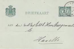 BRIEFKAART   -  1901  -  BRUGGEN - Ganzsachen