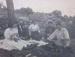 Saint Maime 1912 Photographie Photo Originale:Famille Pique Nique,Honorine,Madeleine, Jules Joseph Céline - Lieux