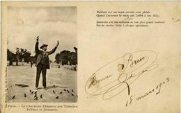 75 PARIS - Le Charmeur D'oiseaux Aux Tuileries - Robinet Et Jeannette - Dos Non Divisé - Imp. DELMOND - Artisanry In Paris