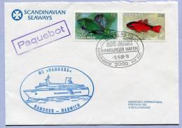 Ship Post Letter PAQUEBOT Scandinavien Seaways MS HAMBURG 1989  (195) - Bahamas (1973-...)