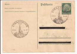 P306 - STRASSBURG - STRASBOIURG -1940 - Cachet Touristique - Entier Postal Surchargé Elsass - - Briefe U. Dokumente
