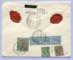 Registered Letter AFGHANISTAN KABUL PEHAWAR SADAR BAZAR To PRAHA Via Karach Athen 1935 (197) - Afghanistan