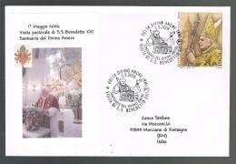 BENEDETTO XVI - VISITA AL SANTUARIO DEL DIVINO AMORE  -  TIMBRO 1.5.2006 - BUSTA - Papi