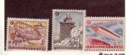 TCHECOSLOVAQUIE 1957 ESPACE YVERT N°939/41 NEUF MNH** - Space