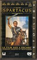 K7, VHS. Péplum. SPARTACUS. Kirk DOUGLAS, Laurence OLIVIER, Tony CURTIS, Peter USTINOV - Action, Aventure