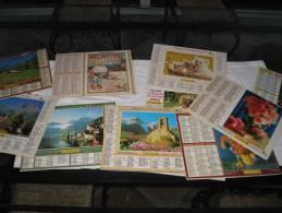 12 CALENDRIERS DE PTT DE 1991 A 2003 AVEC PLAN DU VAR - Calendars
