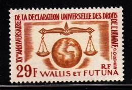 Wallis & Futuna MNH Scott #166 29fr Human Rights Issue - Wallis-Et-Futuna