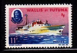 Wallis & Futuna MNH Scott #168 11fr Queen Amelia And Ship ´Queen Amelia´ - Wallis-Et-Futuna