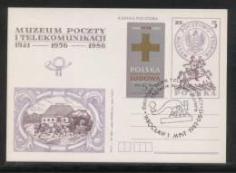 POLAND 1987 WORLD TELECOMMS DAY 150TH ANNIV MORSE CODE MACHINE COMM CANCEL ON PC TELECOMMUNICATIONS - Telecom