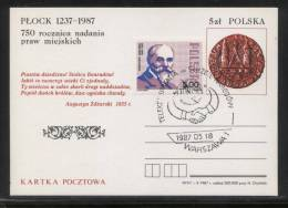 POLAND 1987 TELECOMMS IN THE SERVICE OF PEOPLE UIT COMM CANCEL ON PC TELECOMMUNICATIONS HANDS - Telecom