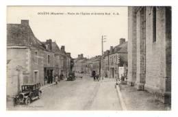 MAYENNE  /  BOUËRE  /  PLACE  DE  L' EGLISE  ET  GRANDE  RUE   ( Automobile  Années 30 ) /  Timbre Libération ( Rare ) - Sin Clasificación