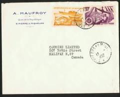 1952   Lettre  Pour Le Canada  Yv 335, 338 - St.Pierre & Miquelon