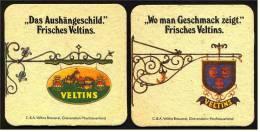2 Bierdeckel , Veltins  -  Ein Kennzeichen Für Gute Gaststätten  -  Das Aushängeschild - Portavasos