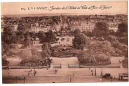 CPA N°129 - LE HAVRE 76 Seine Maritime - Jardin De L´ Hôtel De Ville Et Rue De Paris - Le Havre