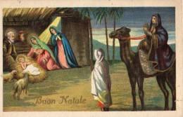 BON NOËL BUON NATALE LA NAISSANCE DE JESUS AVEC L'ARRIVÉE  D'UN ROI MAGE CRECHE - Christmas
