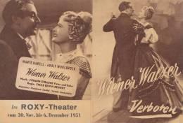 """Kino Filmwerbung Für """"Wiener Walzer Verboten"""" Regie: E.E.Reinert, Mit Marte Harell, Adolf Wohlbrück, 1951 - Reclame"""