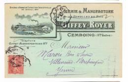 70 - CEMBOING : SCIERIE GIFFEY-ROYER. - Autres Communes