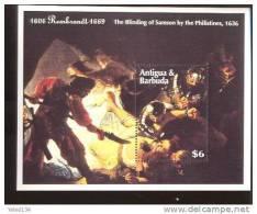 ANTIGUA BARBUDA SHEET ART PAINTINGS REMBRANDT - Rembrandt
