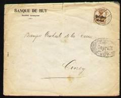 Lettre Huy 23-1-1918 Vers Ciney - Timbre Occupation - Très Belle Oblitération Ciney Au Verso - Covers & Documents