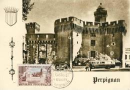 Perpignan Le Castillet  Carte Maximum 14 Nov. 1959  Cpsm Format 10-15 - Perpignan