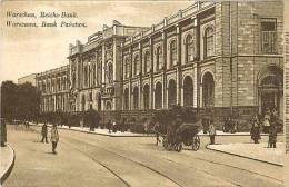 pologne - ref 175- warszawa - varsovie - bank - carte bon etat -