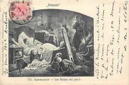 pologne - ref 174- tableau peinture - polonia *- les russes -russie -russia  - carte bon etat -