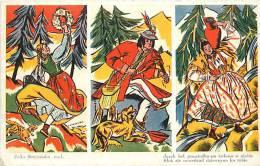 pologne - ref 170- dessin illustrateur - carte bon etat -