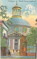pologne - ref 159- warszawa -varsovie - petite carte dessin illustrateur - dimensions 13cms x 8cms -carte bon etat -