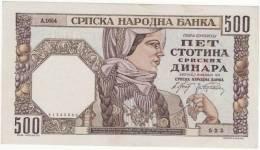 500 Dinara 1941  100% UNC  R  !! - Serbien