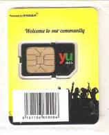 TARJETA DE YU MOBILE DE GSM - SIM DE KENIA - NUEVA-MINT EN SU FUNDA ORIGINAL - Kenia