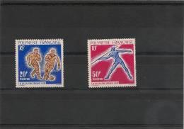 POLYNESIE  Année 1963 N° Y/T :22/23** Côte 29,00 € - Neufs