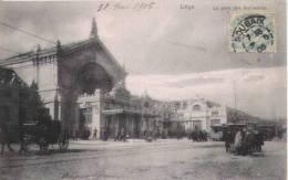LIEGE 37  LA GARE DES GUILLEMINS 1906 - Luik