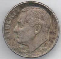 STATI UNITI 1 DIME 1952 AG - Emissioni Federali