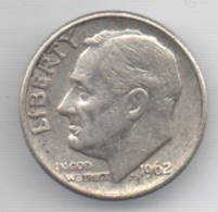 STATI UNITI 1 DIME 1962 AG - Emissioni Federali