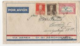 ARGENTINA - VIA AEREA - Cie. Gle. AEROPOSTALE -VF 1933 COVER From BUENOS AIRES To HAMBURG -reception-Yvert # A16+298-301 - Aéreo