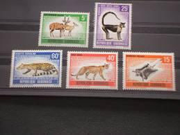 GABON - 1970 ANIMALI 5 Valori  - NUOVI(++)-TEMATICHE - Gabon (1960-...)