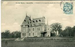 CPA 18 QUANTILLY CHÂTEAU DE CHAMPGRAND FAÇADE DE LA TERRASSE 1907 - Autres Communes