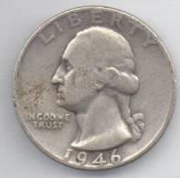 STATI UNITI QUARTER DOLLAR 1946 AG - Emissioni Federali