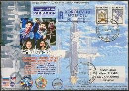 Space. Russia 1997. Soyuz TM - 26 Docking. Cover With Special Cancel. - Cartas