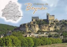 CPM BEYNAC DORDOGNE CHATEAU  DEPARTEMENT CONTOUR  GEOGRAPHIQUE  MULTI VUES RENE - Maps
