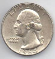 STATI UNITI QUARTER DOLLAR 1964 AG - Emissioni Federali
